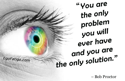 Bob Proctor quote about problems | image of ye