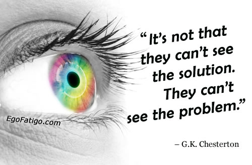 GK Chesterton quote about problems